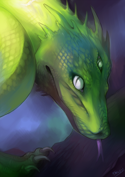 Tree snake Dragon by malikaa