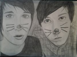 Dan and Phil by LuCkYrAiNdRoP