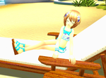 Blanc And Soulmourn Relaxing On The Beach by ruben999