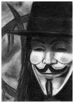 V for Vendetta sketch card by bmac78
