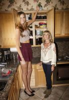 Tall woman in Kitchen by lowerrider