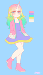 [OPEN] Pastel Uni-girl Adopt [Points/Cash] by Pffycat