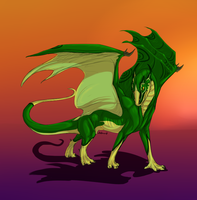 Green Dragon by JadeRavenwing