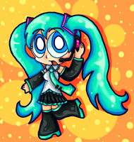 Miku Hatsune yeeeeep by FiddleLid