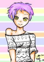 Girl with Pixie Cut by puppyluv744