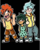 Human Pokemon: Charmander, Bulbasaur, Squirtle by CrazyPotatoQueen