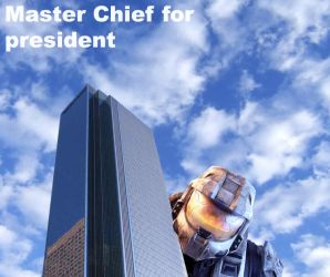 Master Chief for President by ieatyerbaby