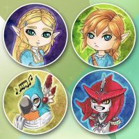 Breath of the Wild chibis by Ranefea