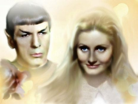 Spock and Leila by BeyondGenesis