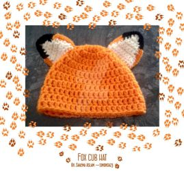 Crochet: Fox cub hat by simonsaz3