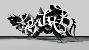 FLOWJOB 3d-graffiti by UrbanCalligraphism