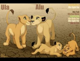 Alu and Ula reference sheet by AnnaGiladi