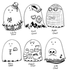 Fashion Ghosties by secondlina