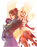 Marjory and Kasmeer by 2ofclubs