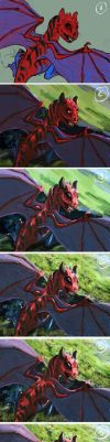 Small Red Dragon Process by FleetingEmber