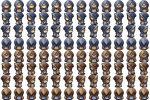 Blue Oyster Cultist Sprites by WaywardInsecticon