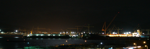 DSME shipyard at night by towel401
