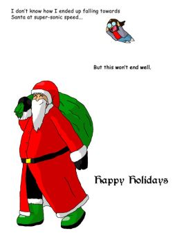 Holiday card: SuperSantaGlomp by QuestionMan