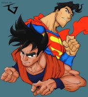Colors: Superman vs Goku by TheIcyOne