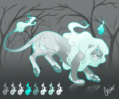 Geist Spoopy Lion Adopt (CLOSED) by BadmashBlitz