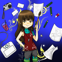 Myself with equipment by Mihlfias
