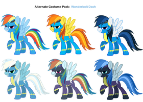FiM Costumes: Wonderbolt Dash by Pika-Robo