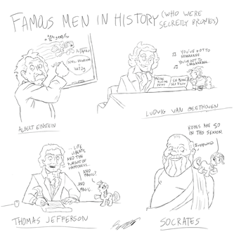 Famous Bronies in History by Telesam