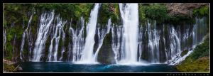 Burney Falls Pano by aFeinPhoto-com