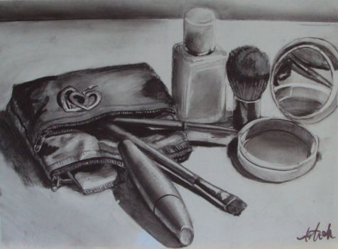 Makeup still life by kminckler