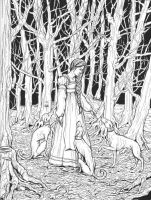 Maiden and Hounds by bluefooted