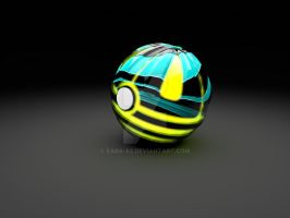 Bee Pokeball by Sara-A2