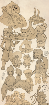 Wind waker mega dump (lol) by ScribbleCate