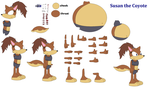 Character Builder  Susan The Coyote by DingoFan