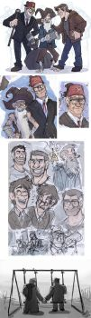 Gravity Falls- Mystrey Trio SketchDump by MadJesters1
