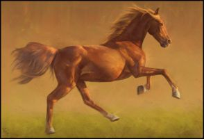 Horsey Painting 8 Day #302 by AngelGanev