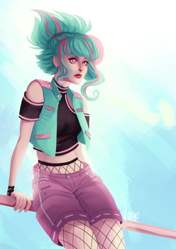 [AT] Blue Hair Girl by Wernope