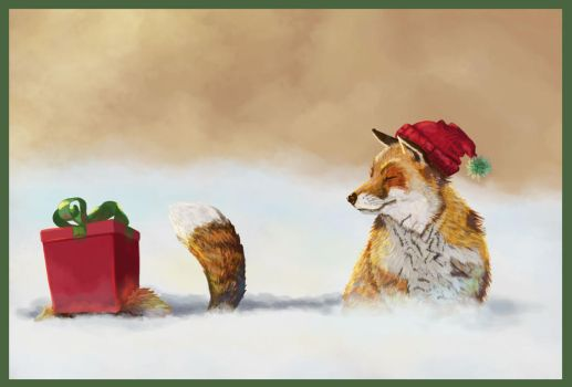 Wintry foxes by vano1337