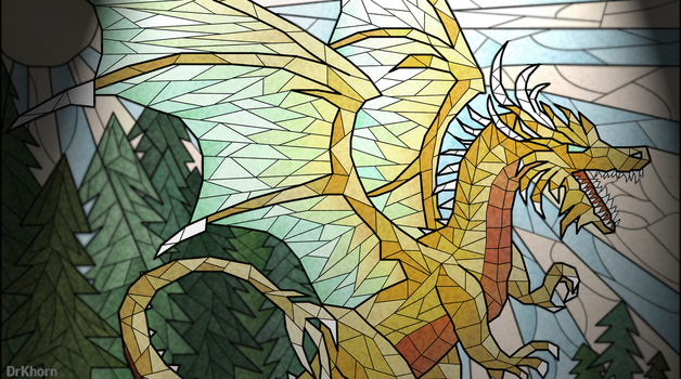 Golden dragon by DrKhorn