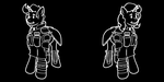 Male and Female Security Armor Pipbuck Icon by ThisHomeBoy24