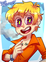 GUESS WHO JUST GOT OUTTA PRISON by Krooked-Glasses