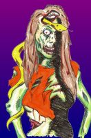 Zombiefied Dani by mentaldiversions