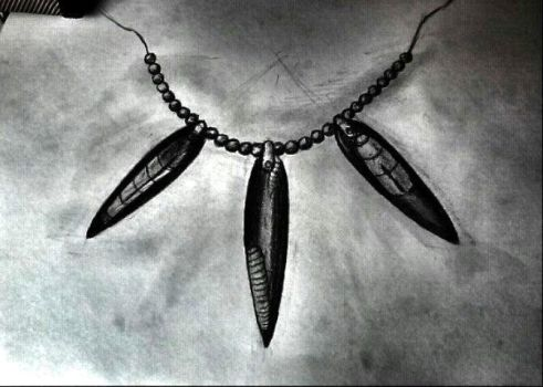 Fast sketch of Orthoceras necklace by Billianna