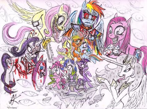 My Little Pony Villainy is horriFIC by devilkais