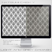 Light and Grey Damask by Natsum-i