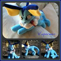 Vaporeon Plushie by CeltysShadow