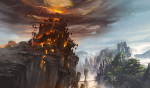 The gates of hell by xiaoxinart