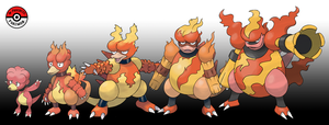240 - 467 Magmar Line by InProgressPokemon