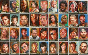 Walking Dead official season three sketch cards by choffman36