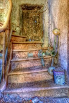 Forgotten on the stairs