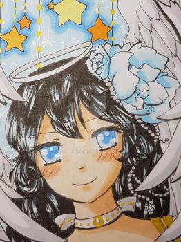 ACEO Angelic Morgaine by morri-chan
